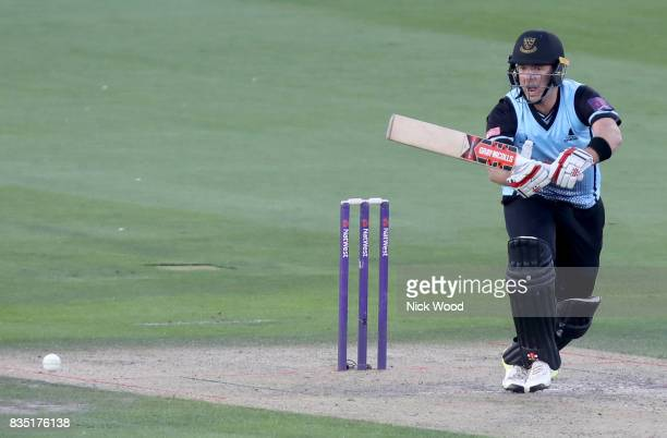 Chris Nash of Sussex starts running for a quick single during the Sussex v Essex NatWest T20 Blast cricket match at the 1st Central County Ground on...