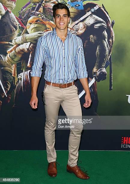 Chris Nayna arrives at the Sydney Premiere of Teenage Mutant Ninja Turtles at The Entertainment Quarter on September 7 2014 in Sydney Australia