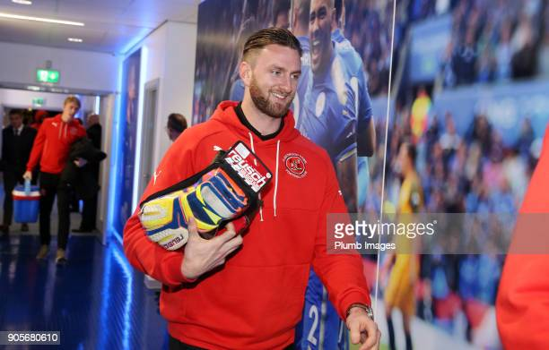 Chris Neal of Fleetwood Town arrives at King Power Stadium ahead of The Emirates FA Cup Third Round Replay between Leicester City and Fleetwood Town...