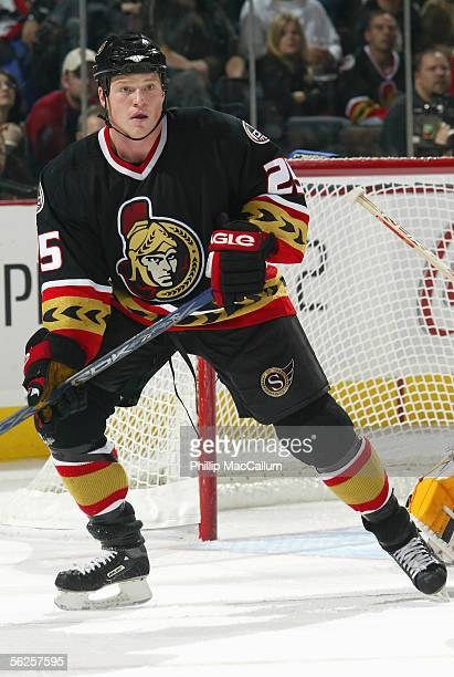 Chris Neil of the Ottawa Senators skates during the game against the Florida Panthers at Corel Centre on November 17 2005 in Ottawa Ontario Canada...