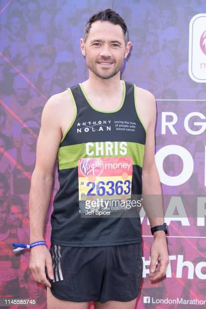 Chris Newton during the Virgin London Marathon 2019 on April 28 2019 in London United Kingdom