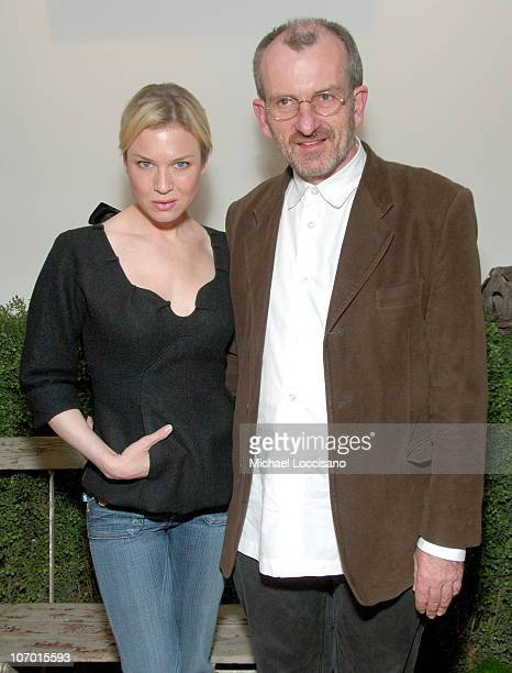 """Chris Noonan, Director, and Renee Zellweger during Tribeca Cinema Series Hosts """"Miss Potter"""" Tea Party and Beatrix Potter Gallery Launch at Tribeca..."""