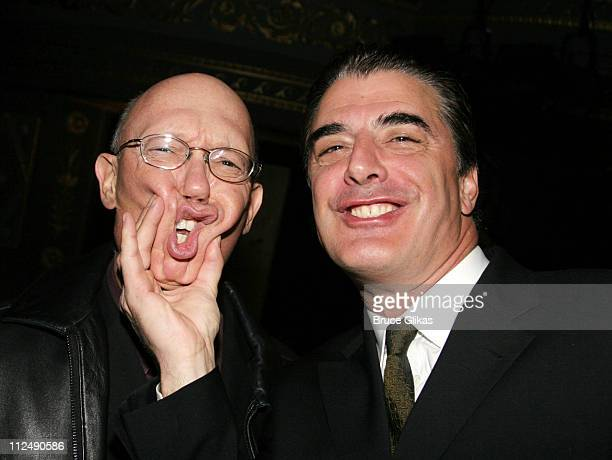 Chris Noth and Dann Florek during Jerry Orbach Memorial Celebration at The Richard Rogers Theater in New York City New York United States