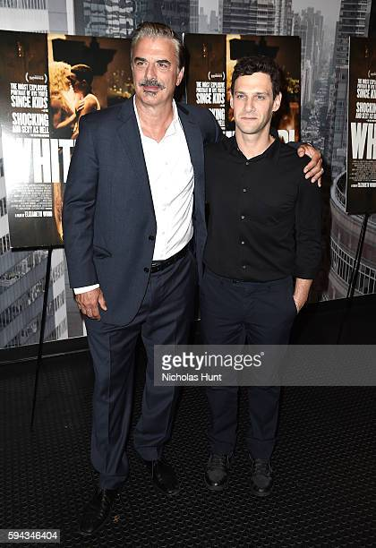 Chris Noth and Justin Bartha attend the 'White Girl' New York Premiere at Angelika Film Center on August 22 2016 in New York City