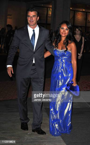 Chris Noth and Tara Wilson attend the 'Sex and the City 2' premiere after party at Lincoln Center for the Performing Arts on May 24 2010 in New York...