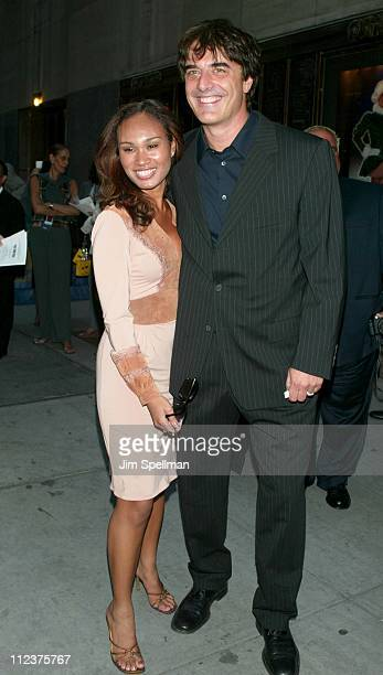 Chris Noth and Tara Wilson during The Sopranos 4th Season Premiere at Radio City Music Hall in New York City New York United States
