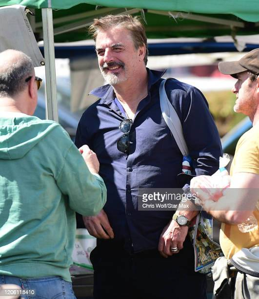 Chris Noth is seen on March 8, 2020 in Los Angeles, California.