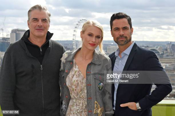 Chris Noth Leven Rambin and Danny Pino attend a photocall for Universal Channel's new series Gone on March 8 2018 in London England