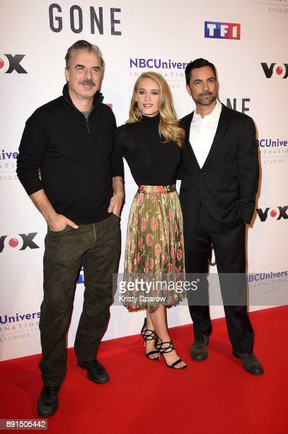 Chris Noth Leven Rambin and Danny Pino attend the 'Gone' Paris Photocall at Hotel Meurice on December 13 2017 in Paris France
