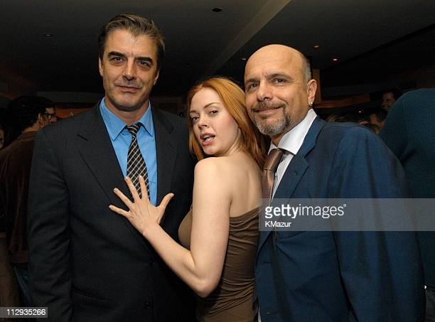 Chris Noth Rose McGowan and Joe Pantoliano during 2003 UTA UpFront Party at LIGHT in New York City New York United States