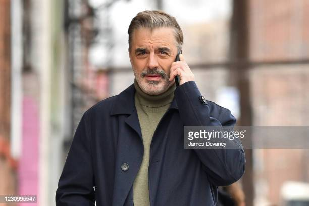Chris Noth seen on the set of 'Equalizer' on February 5, 2021 in Patterson, New Jersey.