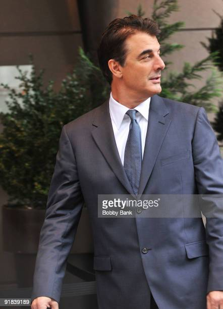 Chris Noth works on location for 'Sex and the City 2' on the streets of Manhattan on October 12 2009 in New York City
