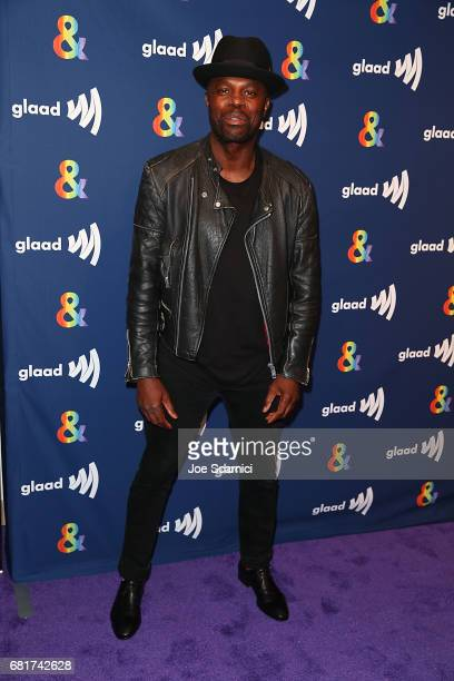 """Chris Obi arrives at the """"American Gods"""" advance screening In Partnership with GLAAD at The Paley Center for Media on May 10, 2017 in Beverly Hills,..."""