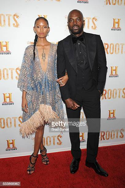 """Chris Obi attends the premiere screening of """"Night One"""" of the four night epic event series, """"Roots,"""" hosted by HISTORY at Alice Tully Hall on May..."""