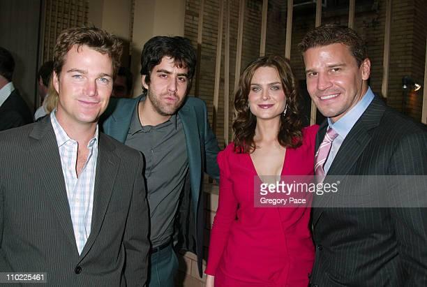 Chris O'Donnell Adam Goldberg Emily Deschanel and David Boreanaz *Exclusive*
