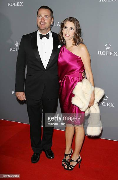 Chris O'Donnell and Caroline Fentress arrive at LA Philharmonic's Walt Disney Concert Hall 10 Year Anniversary Celebration held on September 30, 2013...