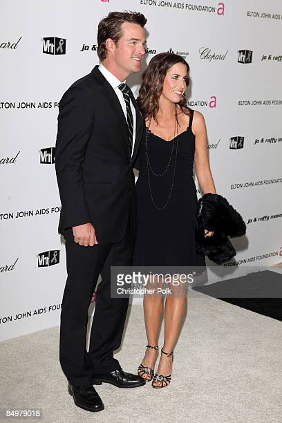 Chris O'Donnell and Caroline Fentress arrive to the 17th Annual Elton John Aids Foundation Party to celebrate the Academy Awards at the Pacific...