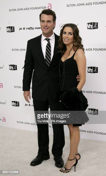 Chris O'Donnell and Caroline Fentress arriving for the 17th annual Elton John AIDS Foundation Party to celebrate the 81st Academy Awards at the...
