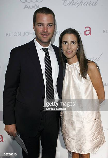 Chris O'Donnell and Caroline Fentress at Elton John AIDS Foundation Oscar Party Sponsored by Audi