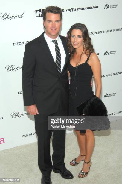 Chris O'Donnell and Caroline Fentress attend 17th Annual Elton John AIDS Foundation Oscar Party at Pacific Design Center on February 22 2009 in West...
