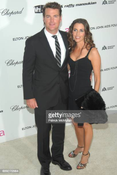 Chris O'Donnell and Caroline Fentress attend 17th Annual Elton John AIDS Foundation Oscar Party at Pacific Design Center on February 22, 2009 in West...