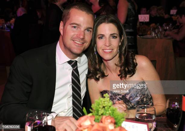 Chris O'Donnell and Caroline Fentress attend G'Day USA 2011 Black Tie Gala at Hollywood Palladium on January 22 2011 in Hollywood California