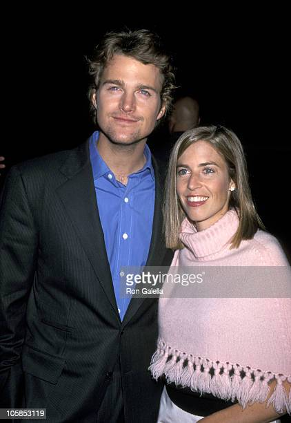 Chris O'Donnell and Caroline Fentress during The Bachelor Los Angeles Premiere at Cinerama Dome in Hollywood California United States