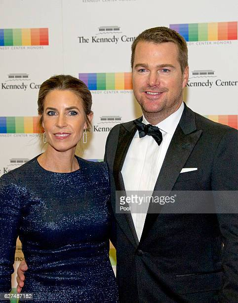 Chris O'Donnell and his wife Caroline Fentress arrive for the formal Artist's Dinner honoring the recipients of the 39th Annual Kennedy Center Honors...