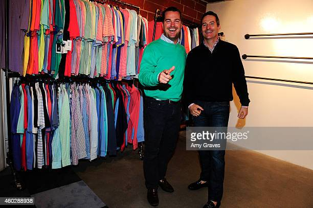 Chris O'Donnell and John O'Donnell attend the JohnnieO Holiday Party at johnnieO Mission Control on December 10 2014 in Los Angeles California