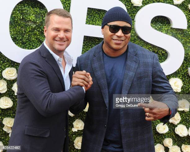 Chris O'Donnell and LL Cool J arrive at the 2017 Summer TCA Tour CBS Television Studios' Summer Soiree at CBS Studios Radford on August 1 2017 in...