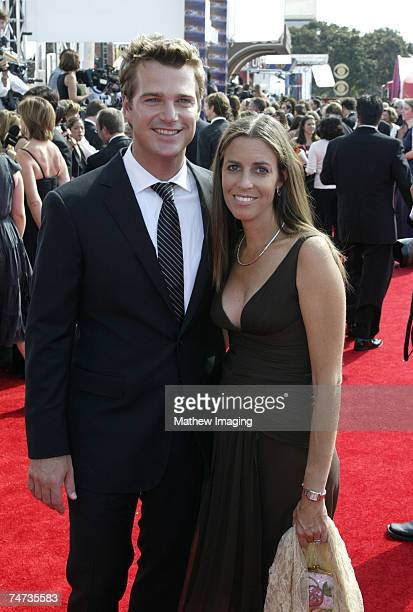 Chris O'Donnell and wife Caroline Fentress at the 57th Annual Primetime Emmy Awards - Arrivals at The Shrine in Los Angeles, California.