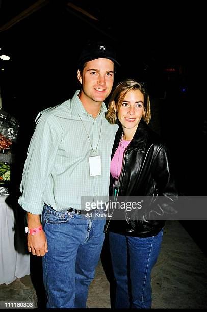 Chris O'Donnell and wife Caroline Fentress during 1998 Fairway to Heaven Golf Tournament in Las Vegas Nevada United States