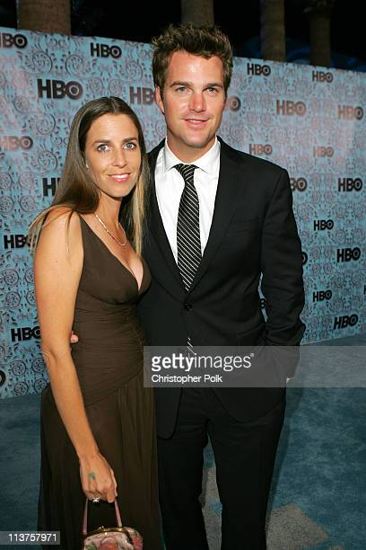 Chris O'Donnell and wife Caroline Fentress during 57th Annual Primetime Emmy Awards HBO After Party at Pacific Design Center in West Hollywood...