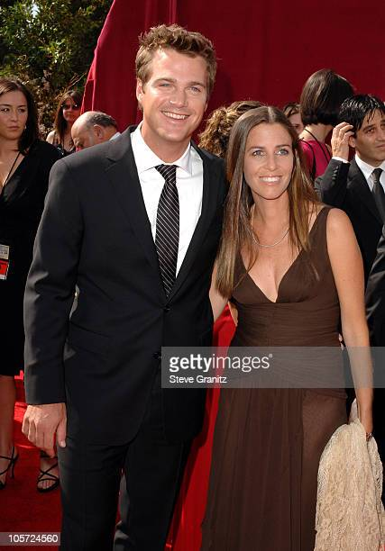 Chris O'Donnell and wife Caroline Fentress during The 57th Annual Emmy Awards - Arrivals at Shrine Auditorium in Los Angeles, California, United...