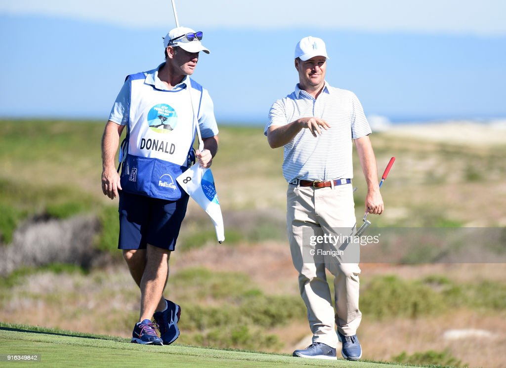 Celebrities Participate In The AT&T Pebble Beach Pro-Am : News Photo