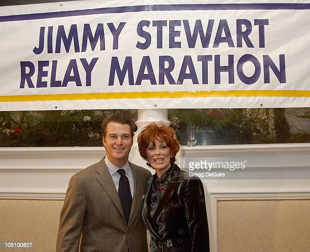 Chris O'Donnell Jill St John during 22nd Annual Jimmy Stewart Relay Marathon VIP Kickoff Reception at Hotel Bel Air in Bel Air California United...