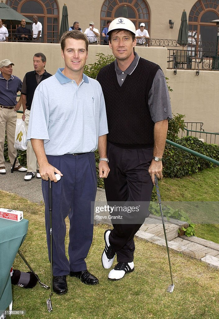 Chris O'Donnell & Kevin Sorbo during 4th Annual Elizabeth Glaser Pediatric AIDS Foundation Celebrity Golf Classic Sponsored By Mossimo & Mercedes-Benz at Riviera Country Club in Pacific Palisades, California, United States.