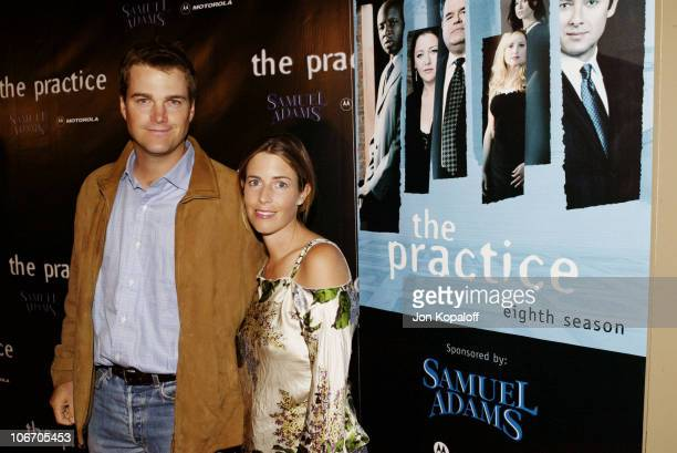 Chris O'Donnell wife Caroline during David E Kelley and the cast of ABC's hit drama 'The Practice' celebrate the launch of their eighth season at The...