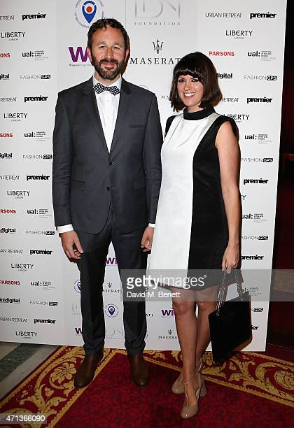 Chris O'Dowd and Dawn O'Porter arrive at the LDNY show and WIE Award gala sponsored by Maserati at Goldsmith Hall on April 27 2015 in London England