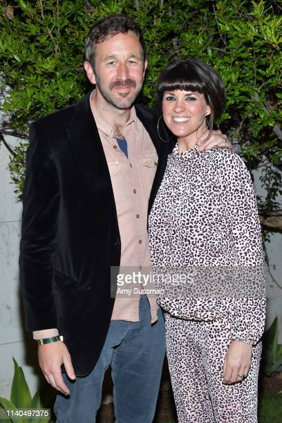 Chris O'Dowd and Dawn O'Porter attend the launch of the Jane Club in Larchmont Village on April 04 2019 in Los Angeles California