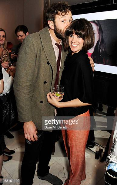 Chris O'Dowd and Dawn Porter attend the launch of Kate Nash's new album 'Girl Talk' at St Martin's Lane Hotel on March 4 2013 in London England