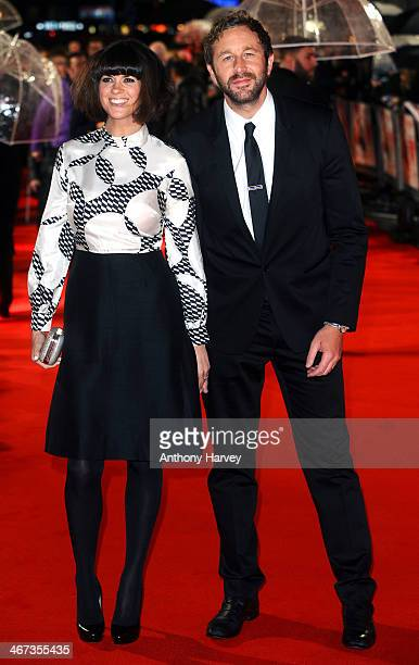 Chris O'Dowd and Dawn Porter attend the World Premiere of Cuban Fury at Vue Leicester Square on February 6 2014 in London England