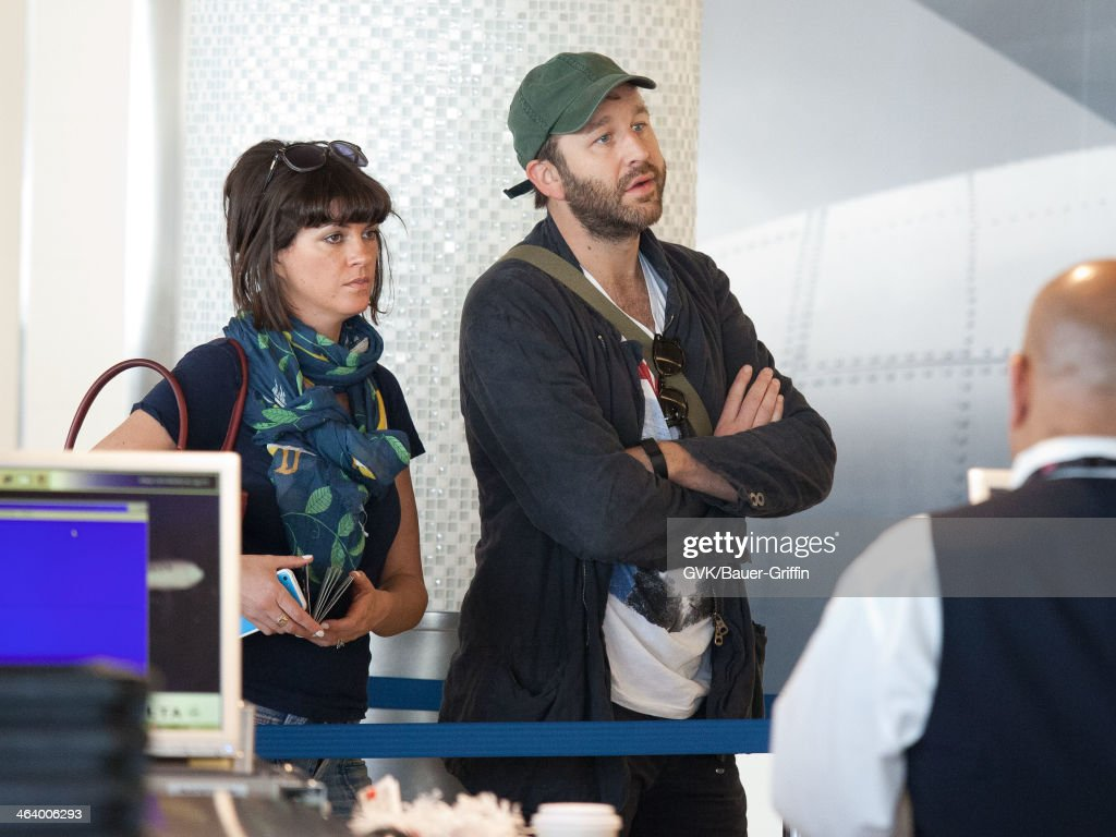Chris O'Dowd and his wife, Dawn Porter are seen on January 18, 2014 in Los Angeles, California.