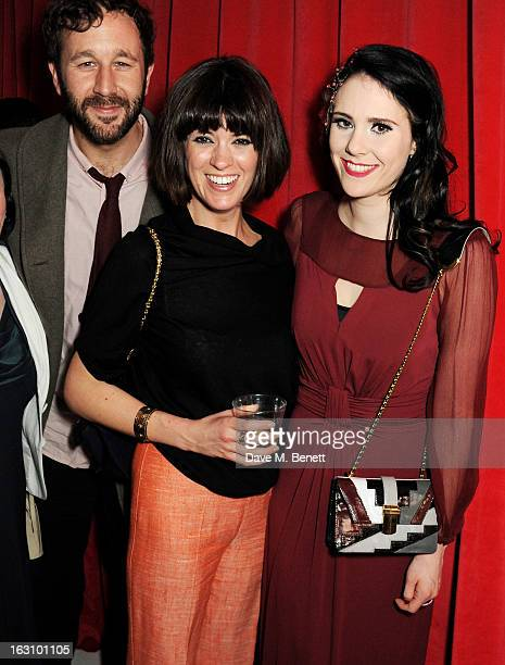 Chris O'Dowd Dawn Porter and Kate Nash attend the launch of Kate Nash's new album 'Girl Talk' at St Martin's Lane Hotel on March 4 2013 in London...