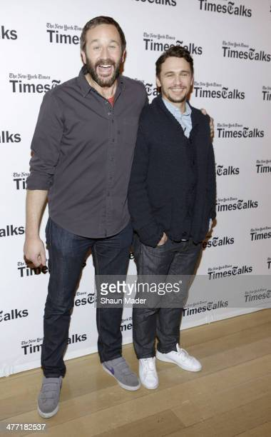 Chris O'Dowd James Franco attend TimesTalks at Times Center on March 7 2014 in New York City