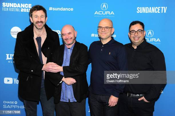 Chris O'Dowd Nick Hornby Jamie Laurenson and Hakan Kousetta attend 'State Of The Union' Red Carpet at The Ray on January 28 2019 in Park City Utah