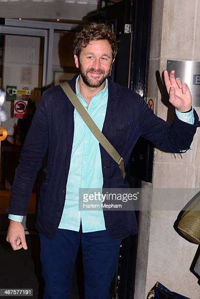 Chris O'Dowd sighted leaving BBC Radio Two on February 7 2014 in London England
