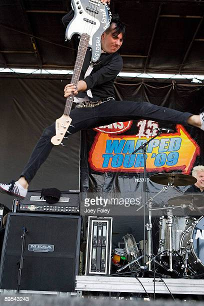 Chris of AntiFlag performs in concert during at the 15th annual Vans Warped Tour at the Verizon Wireless Music Center on July 7 2009 in Noblesville...