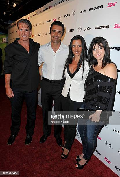 Chris Offutt actor Gilles Marini wife Carole Marini and Stacey Offutt attend Star Magazine's Hollywood Rocks event held at Playhouse Hollywood on...