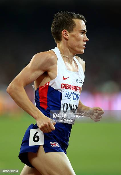 Chris O'Hare of Great Britain competes in the Men's 1500 metres semifinal during day seven of the 15th IAAF World Athletics Championships Beijing...